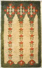 Jugend Rya Rug, Wool Rug, Scandinavian Embroidery, Tile Patterns, Rug Hooking, Bohemian Rug, Weaving, Art Deco, Blanket
