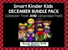 December Bundle Pack Calendar Pack AND Language Pack for SMARTboard