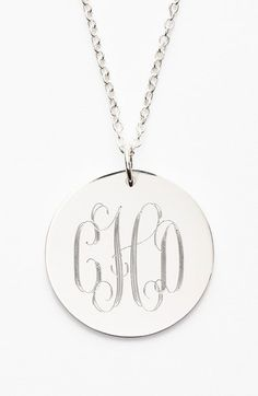 Jane Basch Designs Personalized Reversible Pendant Necklace available at #Nordstrom