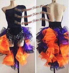 80b56a5210 L905 Ballroom Latin Rhythm Salsa Rumba Samba Dance dress US 6 one sleeve  black  fashion