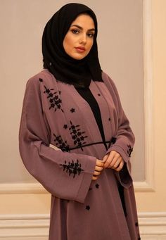 Abayas are the long black dresses that can be carried over normal clothing. They may have embroidery works on them to add to their appeal, but they normally only come in black colour.