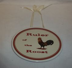 MWW Market Ruler of the Roost Wall Plaque Hanging #MWWMarket #Traditional
