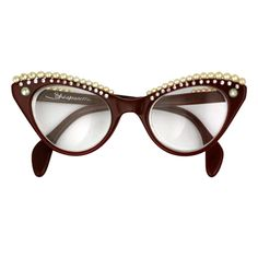 This is how I'd wear geek chic glasses...w 50s flare. Elsa Schiaparelli - House of Schiaparelli Surreal Pearl Eyebrow Glasses