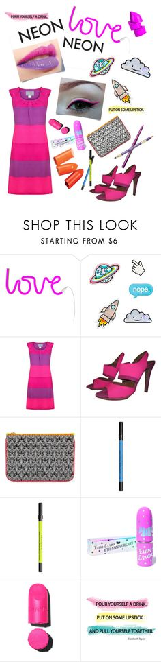"""neon pink"" by chimera-pare on Polyvore featuring beauty, A Little Lovely Company, Stefanel, Liberty, Urban Decay, Lime Crime and Chanel"