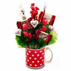 valentine's day gift baskets ideas | kb jpeg homemade valentine s day gifts candy bouquet be my valentine ...