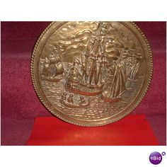 EMBOSSED BRASS PLAQUE, GALLION FROM 70S Listing in the Plaques & Signs,Decorative,Home & Garden Category on eBid United Kingdom | 147616380