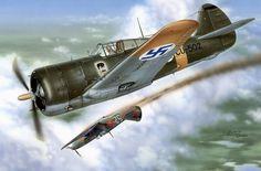 Curtiss Hawk 75A-4 Finland, by Stan Hajek