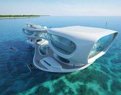 Tasarım harikası yüzer evler..