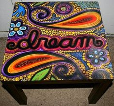 "Painted ""Dream"" Table by Rick Cheadle #painted #furniture"