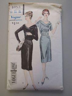 Misses Dinner Dress. Vintage Dresses, Vintage Outfits, Vintage Fashion, Classic Fashion, Vintage Clothing, Vintage Sewing Patterns, Clothing Patterns, Kids Clothing, Vintage Love