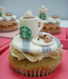 Top 8 Starbucks Inspired Cakes | offee and cake go together like... well... coffee and cake! We've all sat down and had a slice of cake, a cupcake or dipped a biccie