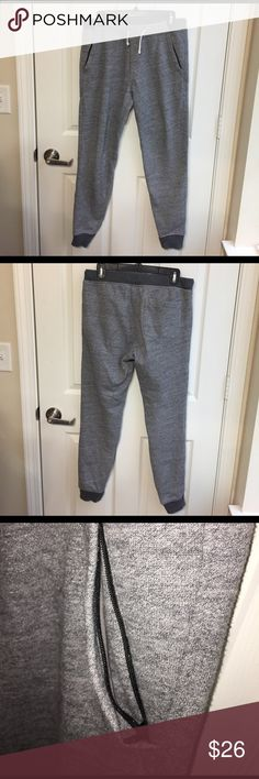 J Crew gray joggers Worn a couple times. In great condition. Very comfortable pants!!! J. Crew Pants Sweatpants & Joggers