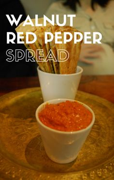 Because it's always great to have a dip to sit out for your guests to munch on before the big meal, Michael Symon shared a recipe for Walnut Red Pepper Spread on The Chew.