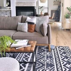 The things I would do for these rugs 😩 ruggable Grey Rugs, Beige, Black Rug, White Rug, Washable Area Rugs, Home Rugs, Modern Room, Colorful Rugs