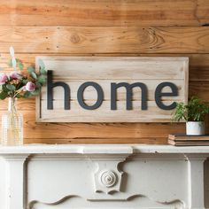 """Home"" Shiplap Sign - Magnolia Market 