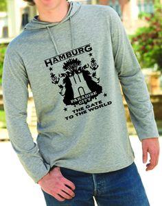 HAMBURG THE GATE TO THE WORD T-SHIRT HOODY LONGSLEEVE AUS LIEBE ZUR HAFENSTADT!