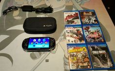 Sony PlayStation Vita - Black Handheld System  PCH-1001 with 6 games & extras - http://video-games.goshoppins.com/video-game-consoles/sony-playstation-vita-black-handheld-system-pch-1001-with-6-games-extras/