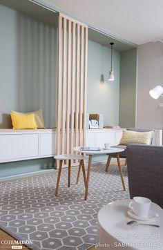 Ambiance scandinave dans une pièce à vivre à Lyon, Marion Lanoë - Côté Maison