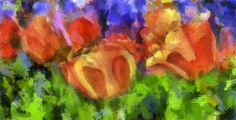 Spring Abstract - Painting Photograph  - Spring Abstract - Painting Fine Art Print