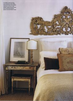 High-low style bedroom by Brooke Giannetti; http://brookegiannetti.typepad.com/