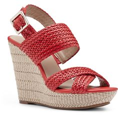 Sole Society Saraa woven platform wedge ($28) ❤ liked on Polyvore