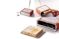 Escribís sobre la tostadora y tu mensaje se tuesta sobre el pan. Una increíble manera de empezar la mañana. Foto:popgive.com
