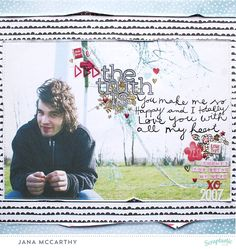 """the truth is..."" Layout by Jana Maiwald-McCarthy using the April 2016 Kit ""Eloise"" and the AddOn from Scraptastic Club"