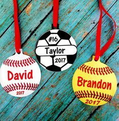 Would have to personalize on spot & I might be too nervous for that Vinyl Ornaments, Christmas Ornaments, Christmas Fair Ideas, School Items, Craft Day, Softball, Baseball, Crisp Image, Soccer Ball