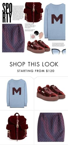 """""""Sporty"""" by juliehalloran ❤ liked on Polyvore featuring Marni, Puma, Herschel Supply Co., Golden Goose and Karl Lagerfeld"""