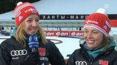 Franziska Preuß und Laura Dahlmeier