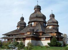St. Elias Church, 10193 Heritage Road, Brampton, Ontario. A beautiful Ukrainian, catholic wooden church.