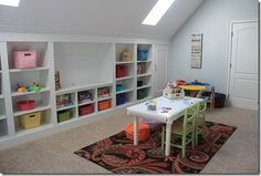 the playroom - added plenty of storage without losing floor space - Domestic Charm