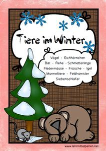 Ampelhefte: Tiere im Winter, dreifach differenziert