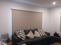 Roller Blinds in Living Room done by Majestic Curtains and Blinds Living Room Blinds, Roller Blinds, Curtains With Blinds, Window Coverings, Windows, Bed, Furniture, Home Decor, Stream Bed