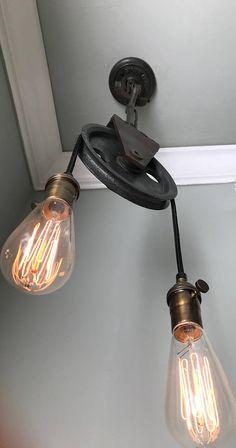 2 tlg Retro Bar Wandlampe Licht Metall Rohr Industriell Wandleuchte Wall Light