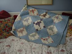 1930s Lindbergh airplane quilt