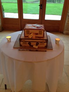 Travel Inspired Wedding Cake @ Thekingscotebarn