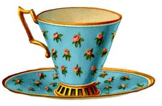 *The Graphics Fairy LLC*: Vintage Graphics - 3 Pretty Teacups with Roses