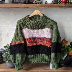 Hand Knitted Sweaters, Mohair Sweater, Crochet Baby Sweaters, Chunky Knit Jumper, Chunky Sweaters, Chunky Knits, Knitting Sweaters, Sweater Coats, Crochet Clothes