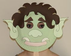 Troll Paper Plate Mask for The Three Billy Goat Gruffs. Act out story after reading book to class.