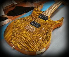Kiesel Guitars Carvin Guitars  Customized DC600 Vintage yellow over flamed maple top on white limba body,zebrawood fretboard,