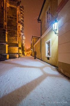 A wonderful winter night in Prague
