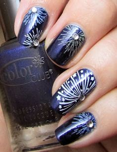 Life in Lacquer: Firework Nail Art