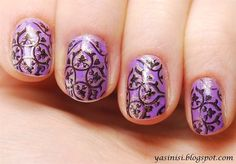 double stamps by Yasinisi from Nail Art Gallery