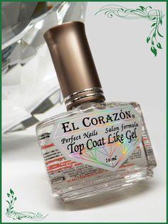 EL Corazon Perfect Nails 434 Top Coat Like Gel-Верхнее покрытие и закрепитель как ГЕЛЬ-ТОП. Визуальный эффект гелевых ногтей
