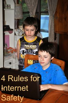 4 House Rules for Internet Safety #sponsored #mc #cybersafe #cybertribe