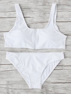 Shop Zipper Up Double Scoop Neck Bikini Set online. SheIn offers Zipper Up Double Scoop Neck Bikini Set & more to fit your fashionable needs.
