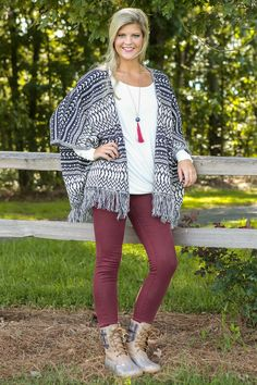Cozy In The Cottage Cardigan-Navy - New Today | The Red Dress Boutique