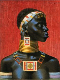 Ndebele Woman - Tretchikoff Painting