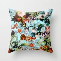 SUMMER BOTANICAL VI Throw Pillow